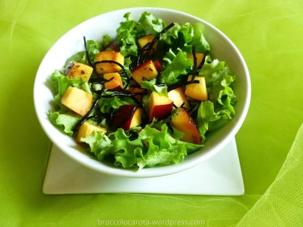 insalata gentile, pesca, aghe, semi chia4