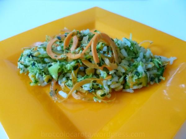 insalata di riso verdure chana dal13